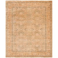 Safavieh Couture Hand-Knotted Haj Jalili Traditional Ivory / Rust Wool Rug - 8' x 10'