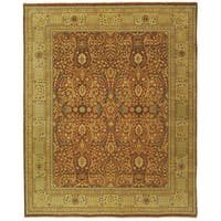 Safavieh Couture Hand-Knotted Haj Jalili Traditional Rust / Gold Wool Rug - 8' x 10'