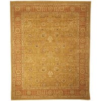 Safavieh Couture Hand-Knotted Haj Jalili Traditional Gold / Rust Wool Rug - 8' x 10'