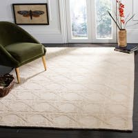 Safavieh Couture Hand-Knotted Contemporary Ivory Wool Rug - 8' x 10'