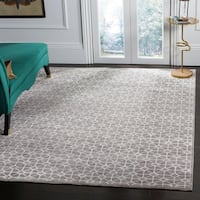 Safavieh Couture Hand-Knotted Kensington Contemporary Light Brown Wool & Viscose Rug - 8' x 10'