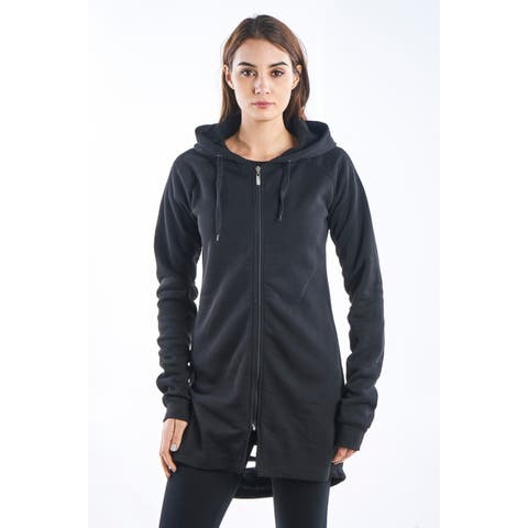 Ladies Gothic Cut Out Fleece Hooded Mini Dress by Special One