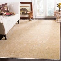 Safavieh Couture Hand-Knotted Oushak Traditional Gold Wool Rug - 8' x 10'