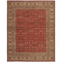 Safavieh Couture Hand-Knotted Oushak Traditional Red Wool Rug - 8' x 10'