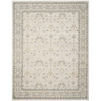 Safavieh Couture Hand-Knotted Oushak Traditional Silver Wool Rug - 8' x 10'