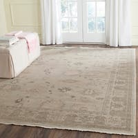 Safavieh Couture Hand-Knotted Oushak Traditional Silver / Grey Wool Rug - 8' x 10'