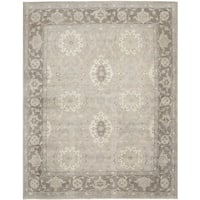 Safavieh Couture Hand-Knotted Sultan Oushak Casual Grey / Mauve Wool Rug - 8' x 10'