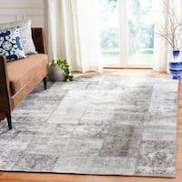 Safavieh Couture Hand-Knotted Spice Market Contemporary Silver / Grey Wool Rug - 8' X 10'