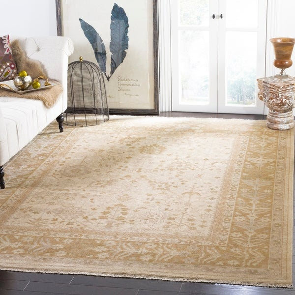 Safavieh Couture Hand-knotted Sultanabad Hamidiye Traditional Oriental Wool Rug with Fringe
