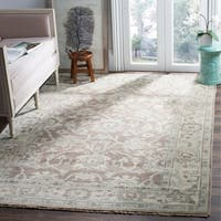 Safavieh Couture Hand-Knotted Sivas Vintage Grey / Ivory Wool Rug - 8' x 10'