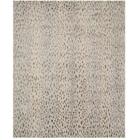 Safavieh Couture Hand-Knotted Tibetan Contemporary Silver Wool & Cotton Rug (8' x 10') - 8' x 10'
