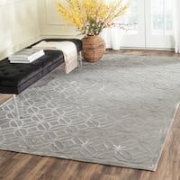 Safavieh Couture Hand-Knotted Tibetan Contemporary Slate Viscose & Wool Rug - 8' x 10'