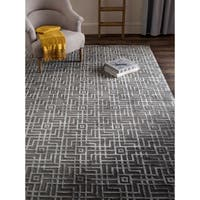 Safavieh Couture Hand-Knotted Tibetan Contemporary Taupe Viscose & Wool Rug - 8' x 10'