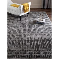 Safavieh Couture Hand-Knotted Tibetan Contemporary Charcoal Viscose & Wool Rug - 8' x 10'