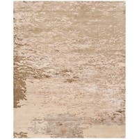 Safavieh Couture Hand-Knotted Tibetan Contemporary Beige Wool & Viscose Rug (8' x 10')
