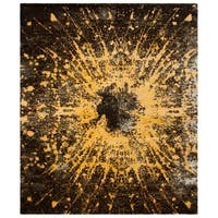 Safavieh Couture Hand-Knotted Tibetan Contemporary Gold / Black Wool & Cotton Rug (8' x 10')