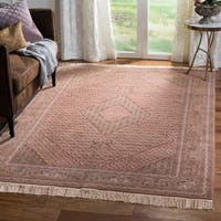 Safavieh Couture Hand-Knotted Tabriz Herati Vintage Brown / Multi Silk & Wool Rug (8' x 10')