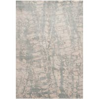 Safavieh Handmade Tibetan Transitional Light Grey Silk Rug - 8' x 10'