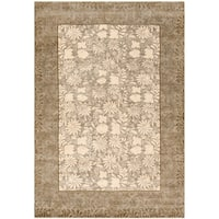 Safavieh Couture Hand-Knotted Contemporary Tan / Sage Wool & Silk Rug (8' x 10')