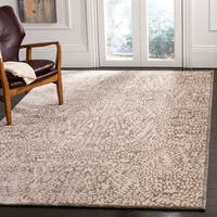 Safavieh Couture Hand-Knotted Contemporary Stone Wool & Silk Rug (8' x 10')
