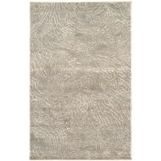 Safavieh Couture Hand-Knotted Contemporary Gray / Ivory Wool & Silk Rug (8' x 10')
