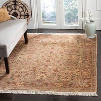 Safavieh Couture Hand-Knotted Versailles Vintage Ivory / Brown Wool Rug (8' x 10')