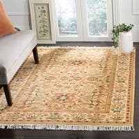 Safavieh Couture Hand-Knotted Versailles Vintage Creme Wool Rug (8' x 10')