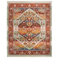 Safavieh Sutton Vintage Rust / Multi Wool Rug - 8' x 10'