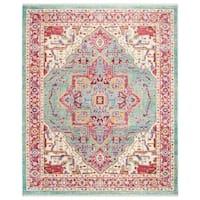 Safavieh Sutton Bohemian & Eclectic Aqua / Multi Polyester Rug - 8' x 10'