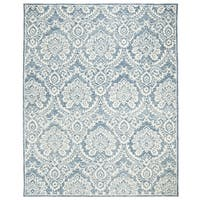 Safavieh Couture Hand-Tufted Blossom Contemporary Blue / Ivory Wool Rug (8' x 10')