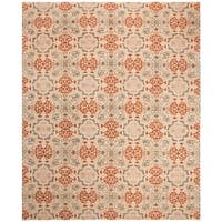 Safavieh Couture Handmade Asian Fusion Traditional Olive / Multi Wool Rug - 9' x 12'