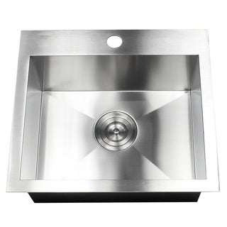 Link to 19-Inch 16 Gauge Stainless Steel Topmount Drop-In Kitchen Island Bar Utility Sink Similar Items in Sinks