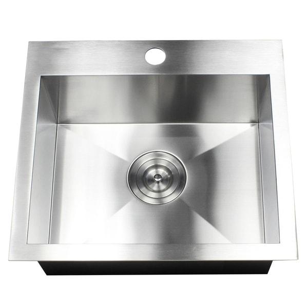 Shop 19 Inch 16 Gauge Stainless Steel Topmount Drop In Kitchen
