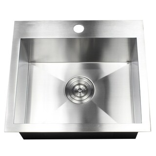 19-Inch 16 Gauge Stainless Steel Topmount Drop-In Kitchen Island Bar Utility Sink