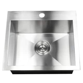 Drop in kitchen sinks for less overstock 19 inch 16 gauge stainless steel topmount drop in kitchen island bar utility sink workwithnaturefo