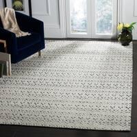 Safavieh Handmade Castilla Modern & Contemporary Grey / Darkgrey Wool Rug - 9' x 12'