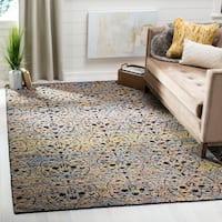 Safavieh Handmade Castilla Modern & Contemporary Bluegold / Charcoal Wool Rug - 9' x 12'