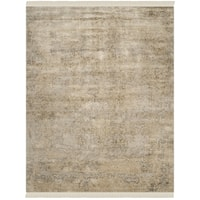 Safavieh Couture Hand-Knotted Dream Traditional Grey / Silver Wool & Silk Rug - 9' x 12'