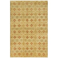 Safavieh Couture Hand-Knotted Nepalese Contemporary Cream / Saffron Wool Rug - 9' x 12'