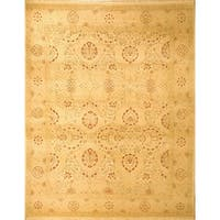 Safavieh Couture Hand-Knotted Heirloom Traditional Ivory / Beige Wool Rug - 9' x 12'