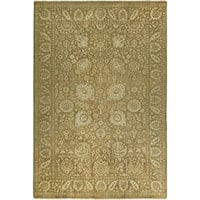 Safavieh Couture Hand-Knotted Heirloom Traditional Dark Beig / Ivory Wool Rug - 9' x 12'
