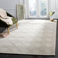 Safavieh Couture Hand-Knotted Contemporary Silver Wool Rug - 9' x 12'