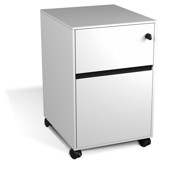 Executive Modern Mobile File Cabinet