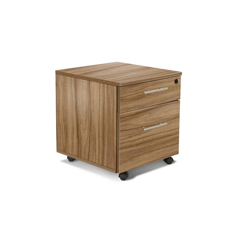 Walnut Premium Pro 2-drawer Mobile Pedestal