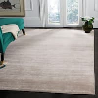 Safavieh Couture Hand-Knotted Kensington Contemporary Grey Wool & Viscose Rug - 9' x 12'