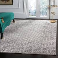 Safavieh Couture Hand-Knotted Kensington Contemporary Light Brown Wool & Viscose Rug - 9' x 12'