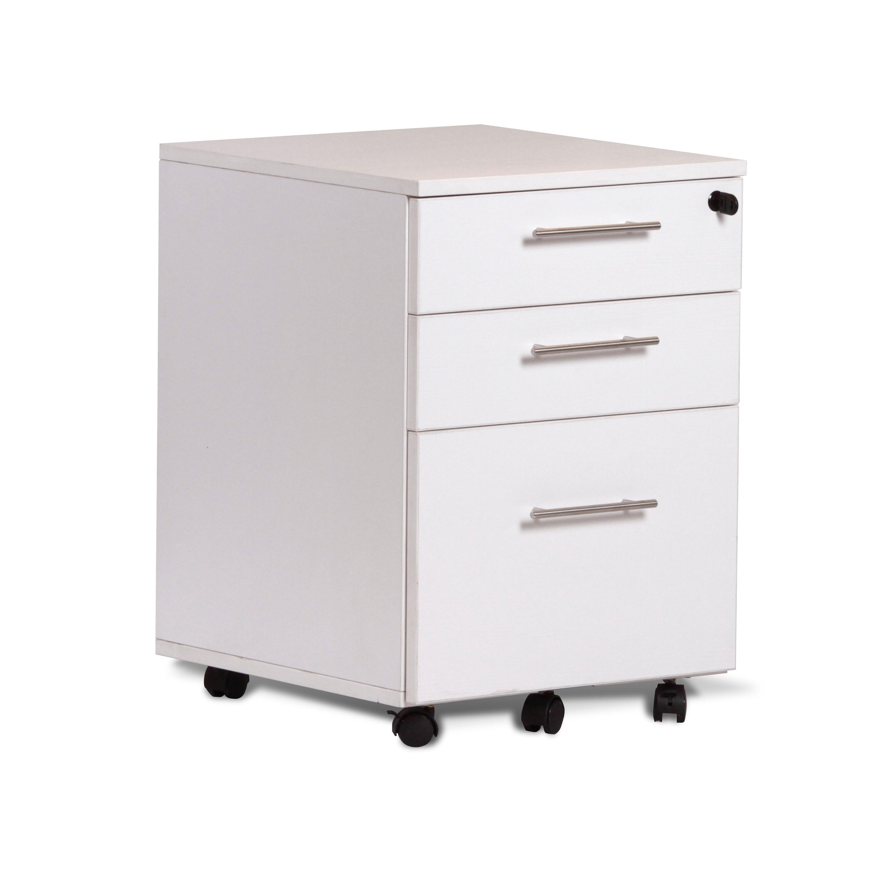3 Drawer Mobile File Cabinet Pedestal