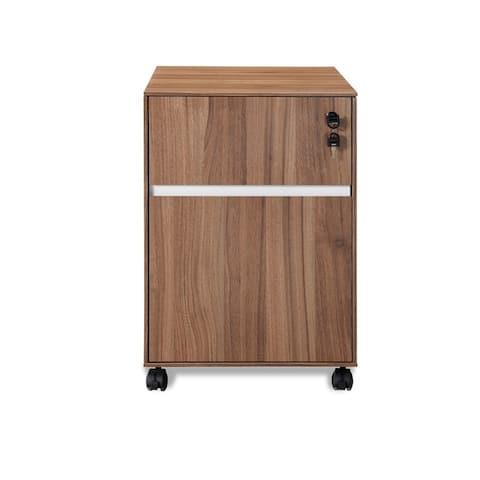 Walnut Professional 2-drawer Mobile Pedestal File