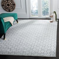 Safavieh Couture Hand-Knotted Kensington Contemporary Blue Wool & Viscose Rug - 9' x 12'