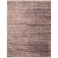 Safavieh Couture Hand-Knotted Luxor Eclectic Brown Rayon Rug - 9' x 12'